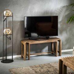 TV-möbel shutters ausziehbar - Massif mango Sandfarbe