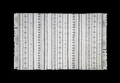 Teppich - Baumwolle - 210x150 cm - schwarz-weiß
