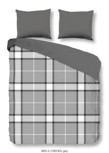 Bettwäsche Checkx Grau 240x220cm