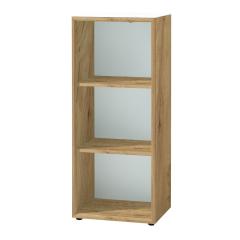 Mouna niedriges Bücherregal 50cm - Eiche/Weiß