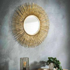 Spiegel Ø80 sun - Gold
