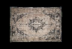 Teppich - Baumwolle - 230x160 cm - grau / beige