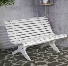 Bompa bench white, FSC 100%