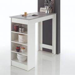 Bartable De Marchi 115cm - Weiß/Beton