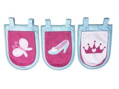 Set mit 3 Aufbewahrungstaschen Princess II