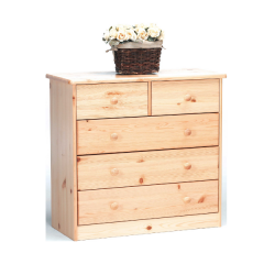 Dresser MARIO 012 - Dresser with 2+3 drawers - NATURAL LACQUER