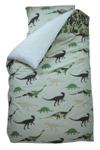 Bettbezug Dino grün