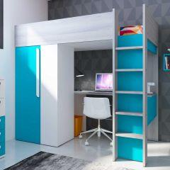 BO9 High Sleeper bed 200 cm Caribbean blue