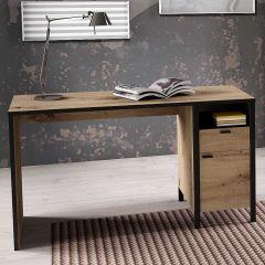 IN-LOFT 1 - Schreibtisch bestehend aus 2 Colli - Artisan Oak Nb/Stahl dunkel