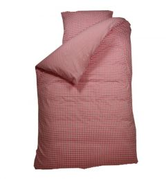 Bettbezug Raute rosa
