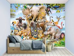 Kindertapete Jungle Safari