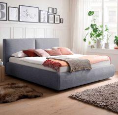 Gestoffeerd bed Atesio incl. bedbodem - 180x200 cm - blauw
