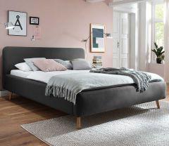 Gestoffeerd bed Mattis - 140x200 cm - antraciet