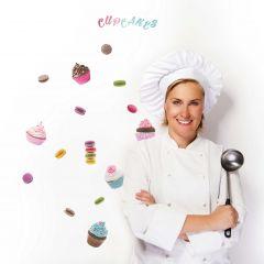 Wandaufkleber Cupcakes & Makronen