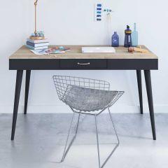 Horizon 134cm Schreibtisch - Eiche/schwarz