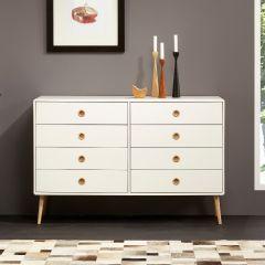 Dresser SOFT LINE 019 - Dresser with 4+4 drawers - WHITE