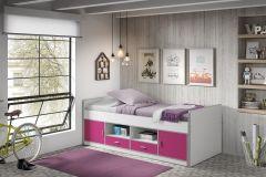Kojenbett Bonny - weiß/pink