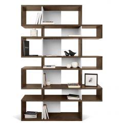 Bücherschrank Lissabon 3 - Nussbaum/weiß