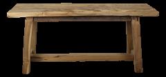Dekorative Bank Lawas - 100 cm - natürlich - Teakholz - Teakholz