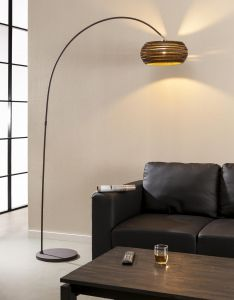 Stehlampe Bow c - braun