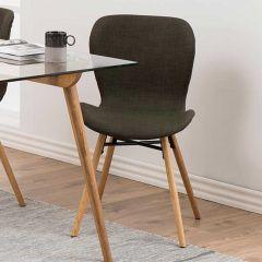 Batilda - A1 dining chair - khaki, oak;black - set of 2