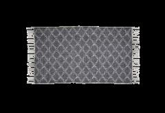 Teppich - Baumwolle - 90x60 cm - dunkelgrau