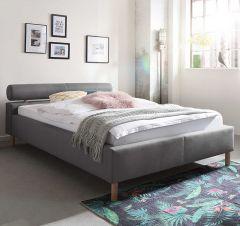Gestoffeerd bed Feline - 140x200 cm - Lichtgrijs