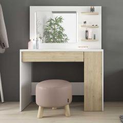 1730 Vanity Table Glamour Oak Natural/White