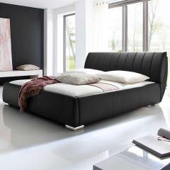 Gestoffeerd bed Bern - 180x200 cm - Zwart
