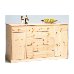 Sideboard MARIO 031 - Sideboard with 2 doors and 2+5 drawers - NATURAL LACQUER