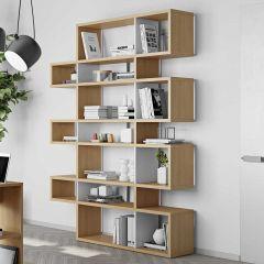 Bücherschrank Lissabon 3 - Eiche / Weiß