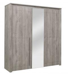EDEN - Armoire 3 portes Chêne gris