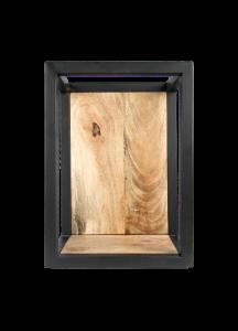 Wandkasten Nivelliere - 25x35 cm - Mangoholz / Eisen