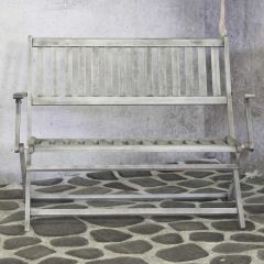 Wales foldable bench grey FSC 100%
