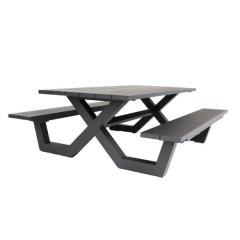 Picknicktisch Biabou 220x110 - schwarz