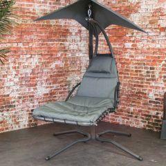 Honolulu Swing Chair black with adjustable umbrella