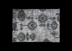 Teppich - Baumwolle - 180x120 cm - grau