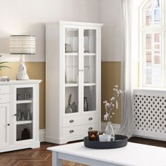 Sideboard VENICE 132 - Side Board with 2 doors and 2 drawers - EXTRA WHITE