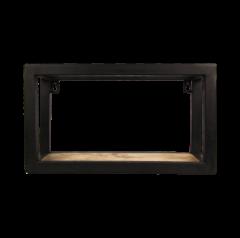 Wandkasten Nivelliere - 35x20 cm - Mangoholz / Eisen
