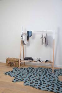 Leopard Teppich Blau 145X160