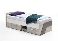 Einzelbett Nano mit 2 Schubladen