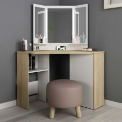 1745 Vanity Table Chic Oak Natural/ White
