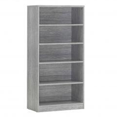 Bücherregal Spacio 72cm mit 4 Einlegeböden - Eiche grau