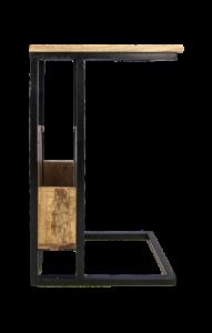 Beistelltisch - Mangoholz / Eisen