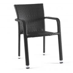 Bastia stacking chair wicker anthracite