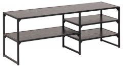 Seaford TV-table, 3 shelves - matt black, black ash