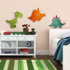 Wandsticker 3D Dinosaurier - Schaumsticker