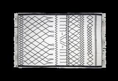 Teppich - Baumwolle - 120x70 cm - schwarz-weiß