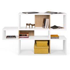 Bücherschrank Lissabon 1 - weiß/Eiche