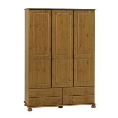 Warderobe RICHMOND 302  - Wardrobe closet with 3 doors and 4 drawers - STAINED LACQUER
